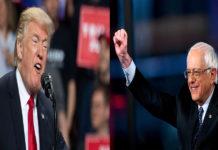 Why is Donald Trump always defending Bernie Sanders