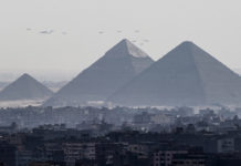 An Egyptian youth committed suicide from the top of the pyramid