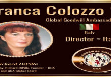 Franca Colozzo Global Goodwill Embassder Itlay